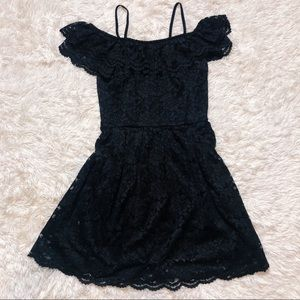 H&m Black Lace skater dress. 8, m/l